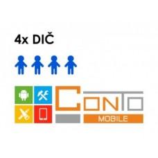 Conto Mobile - rozšíření na 4 DIČ