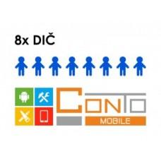 Conto Mobile - rozšíření na 8 DIČ